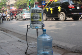 Charity spots for poor people in Hanoi