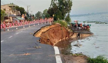 Erosion problem keeps getting worse in the Mekong Delta