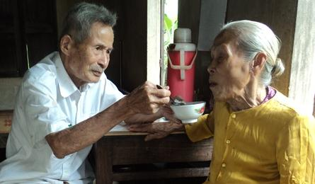 Elderly couple stricken by poverty