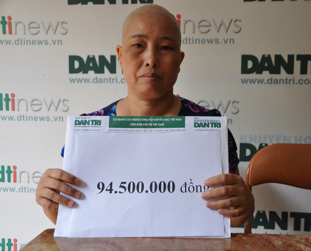 Over VND94m donated to sick widow