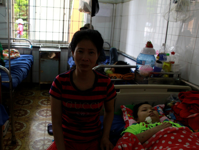 Mother struggles to care for ill husband and son