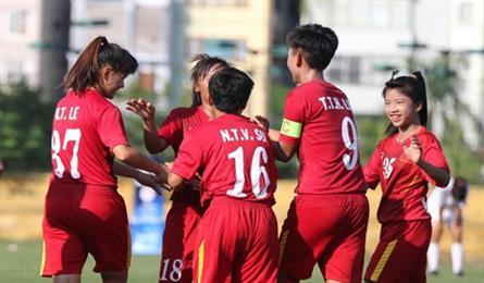 Việt Nam crush Lebanon 7-0 at AFC women's champs