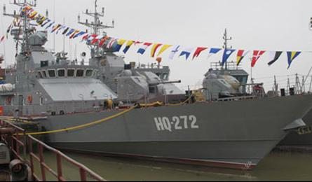 Vietnam manufactures its first warship