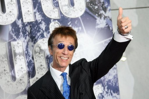 Robin Gibb, singer with the legendary British band the Bee Gees, at the World Music Awards in Monaco in 2010. He died aged 62 after a lengthy battle against cancer, his family said. (AFP Photo/Stephane Danna)