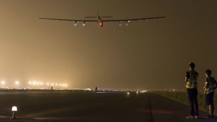 Pacific storms ground solar plane on round-the-world trip