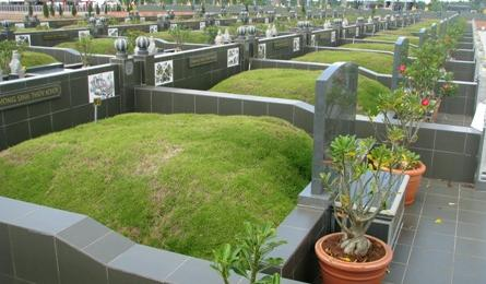 Fancy final resting places in the Mekong Delta