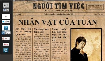 Vietnamese young people devise creative CVs