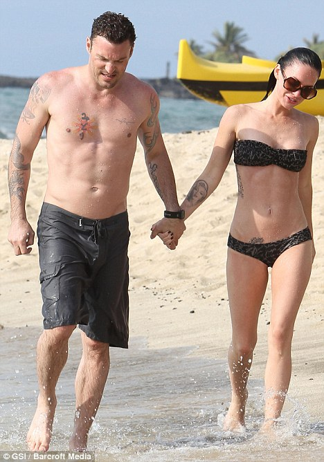Couple in love: Brian Austin Green and Megan Fox reportedly married