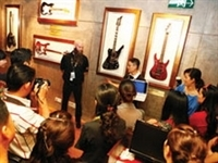 Rock and roll items on display in HCM City