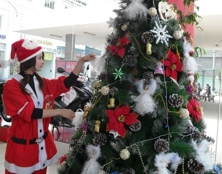 Hanoi's streets become glittered with Christmas cheer