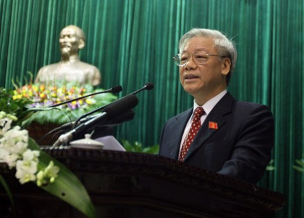 Nguyen Phu Trong elected Party General Secretary