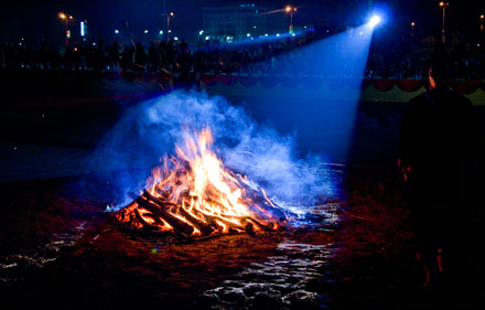 Secretive tradition of fire dancing in Ha Giang Province