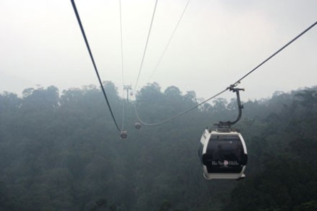 Misty Ba Na's cable car offers an enchanting view from above